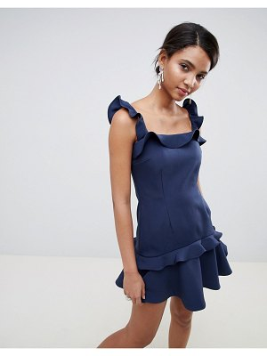 Keepsake ruffle frill mini dress