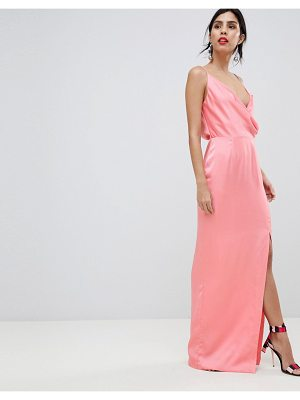 Keepsake strappy gown with leg split