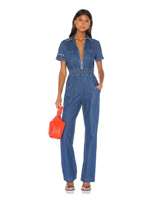 KENDALL + KYLIE charlie fashion denim jumpsuit. - size l (also