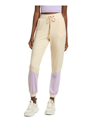 KENDALL + KYLIE colorblock joggers