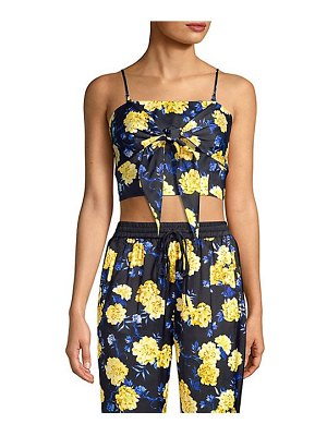 KENDALL + KYLIE floral tie-front top