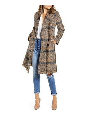 KENDALL + KYLIE plaid double breasted coat