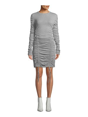 KENDALL + KYLIE Ruched Crewneck Long-Sleeve Dress