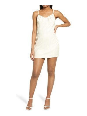 KENDALL + KYLIE shirred bust cup faux leather minidress