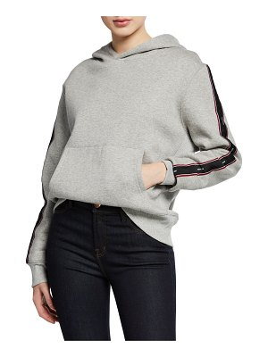 KENDALL + KYLIE Side-Stripe Cotton Pullover Hoodie