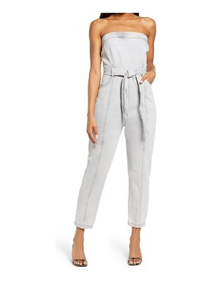 KENDALL + KYLIE strapless belted jumpsuit