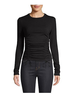 KENDALL + KYLIE stretch jersey ruched shirt