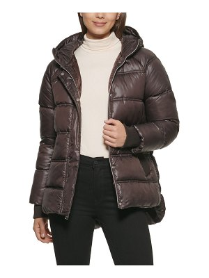 Kenneth Cole cire hooded puffer jacket