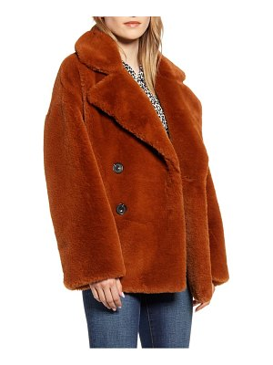 Kenneth Cole double breasted faux fur jacket