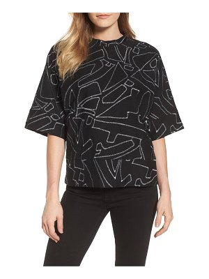 Kenneth Cole embroidered top