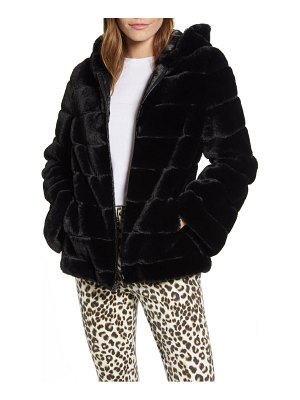 Kenneth Cole hooded faux fur jacket
