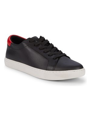 Kenneth Cole Kam Embroidered Leather Sneakers