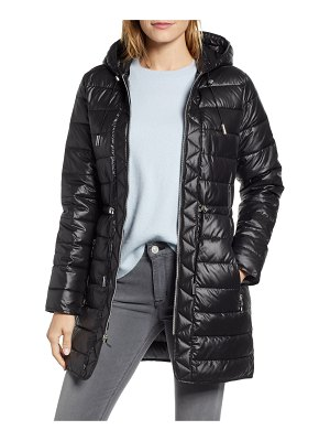 Kenneth Cole long hooded puffer coat