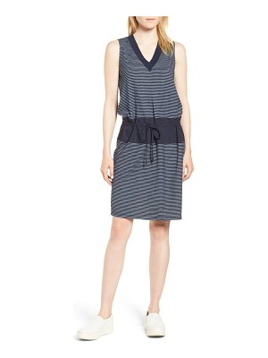 Kenneth Cole mixed media drawstring dress
