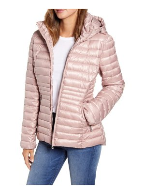 Kenneth Cole packable hooded puffer jacket