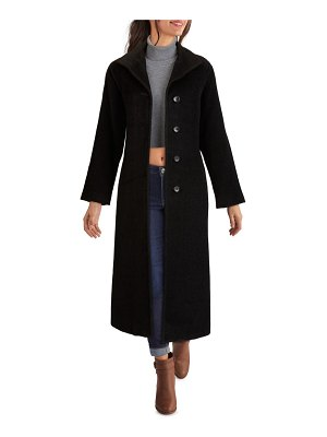 Kenneth Cole wing collar wool & alpaca blend coat