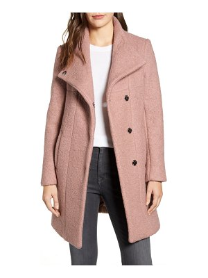 Kenneth Cole wool blend boucle coat