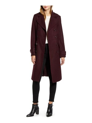 Kenneth Cole wool blend military coat