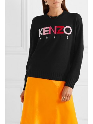 Kenzo appliquéd embroidered wool sweater