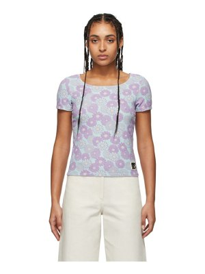 Kenzo blue and purple jacquard fitted t-shirt