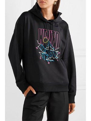 Kenzo embroidered cotton-blend cady hoodie
