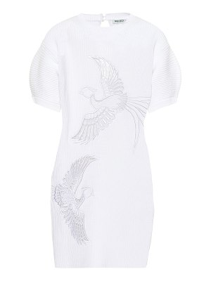Kenzo embroidered cotton-blend knit dress