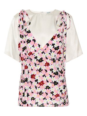 Kenzo jackie flowers layered top