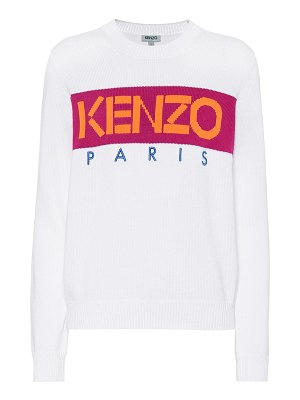 Kenzo logo cotton-blend sweater