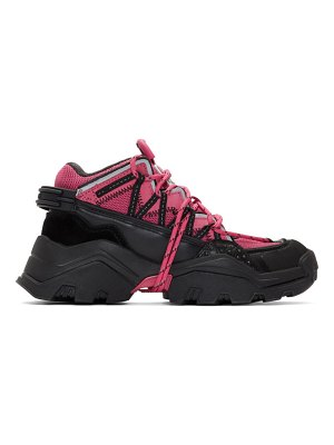 Kenzo pink and black inka sneakers