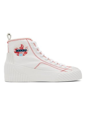 Kenzo white volkano high-top sneakers