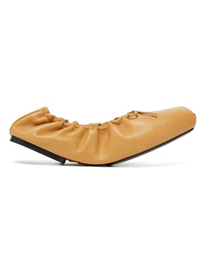 KHAITE ahsland foldable leather flats