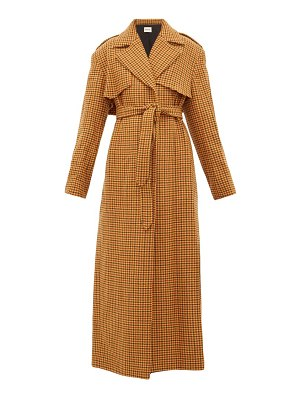 KHAITE blythe checked wool trench coat