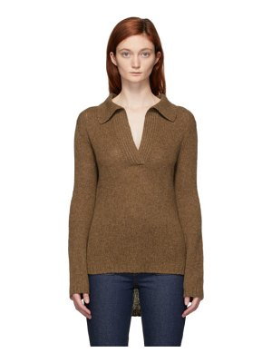 KHAITE brown cashmere cass sweater