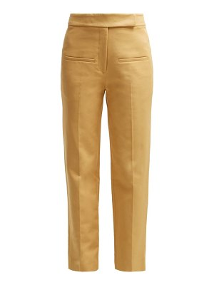 KHAITE coco cropped cotton twill trousers