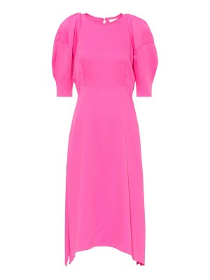 KHAITE cynthia satin midi dress