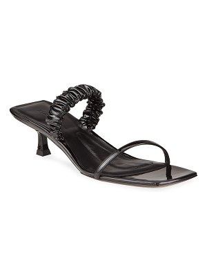 KHAITE Georgia Lambskin Kitten-Heel Slide Sandals