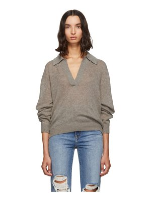 KHAITE grey jo sweater