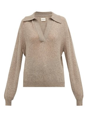 KHAITE jo collared cashmere blend sweater