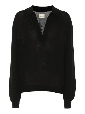 KHAITE jo stretch cashmere sweater
