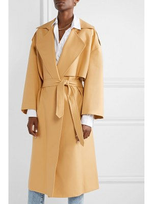 KHAITE matthias belted cotton-gabardine trench coat