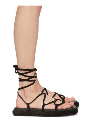 KHAITE suede the alba sandals