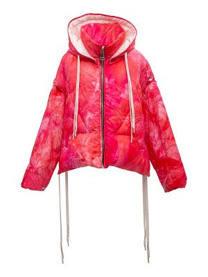 KHRISJOY khris tie dye waterproof down puffer jacket with detachable sleeves
