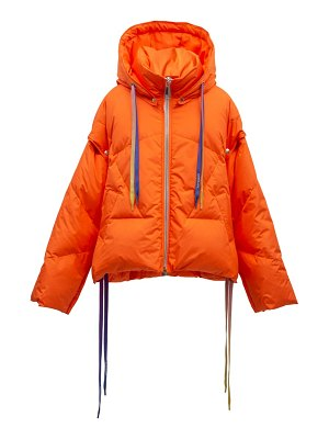 KHRISJOY khris waterproof down puffer jacket with detachable sleeves