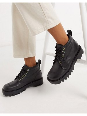 Kickers kizziie hi cleated low ankle boots in black