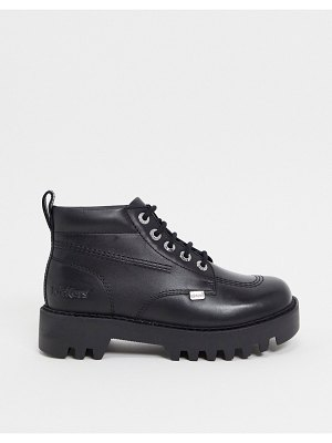 Kickers kizziie high chunky ankle boots in black