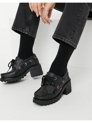 Kickers klio heeled shoes in black leather