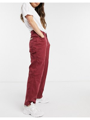 Kickers relaxed utility pants with embroidered pocket logo
