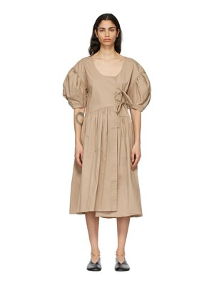 Kika Vargas beige carmen dress