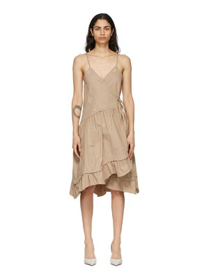 Kika Vargas beige elora dress