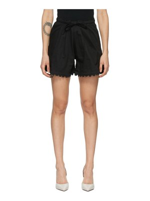Kika Vargas black scalloped elsie shorts